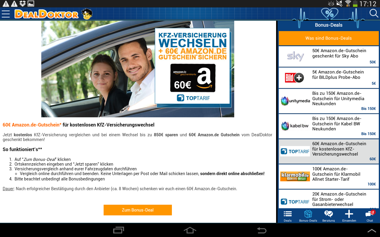 DealDoktor » Schnäppchen App - screenshot