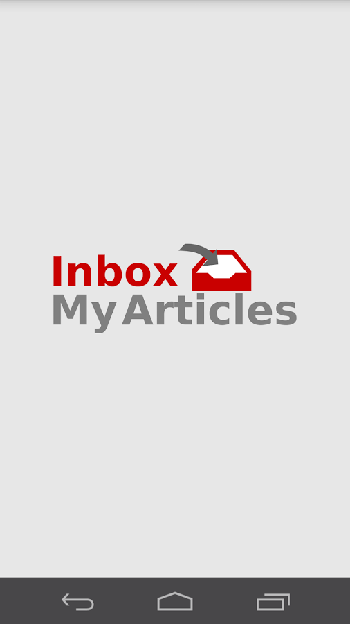 Inbox My Articles News Reader- screenshot