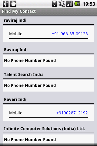Find My Contact- screenshot