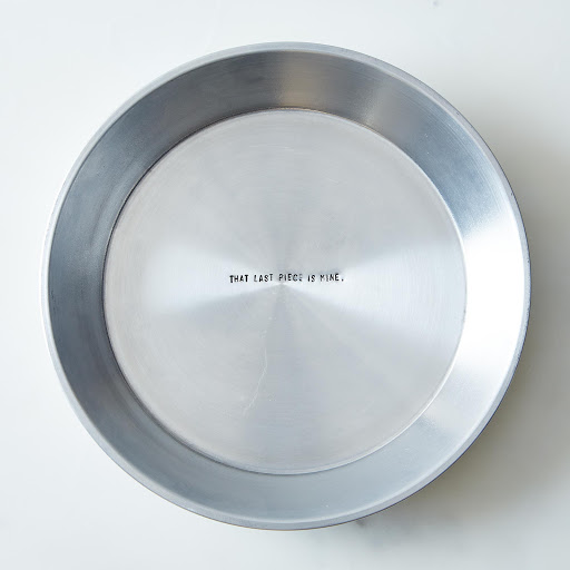 Hidden Quote Pie Plate