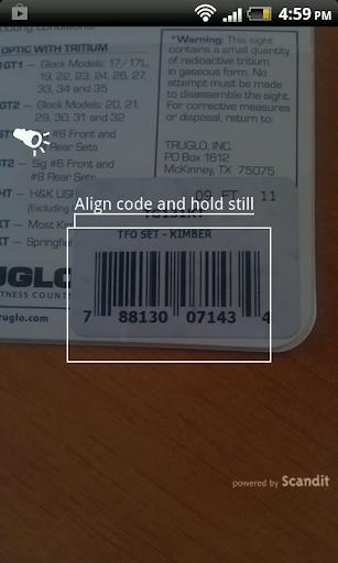 Slickguns Barcode Scanner