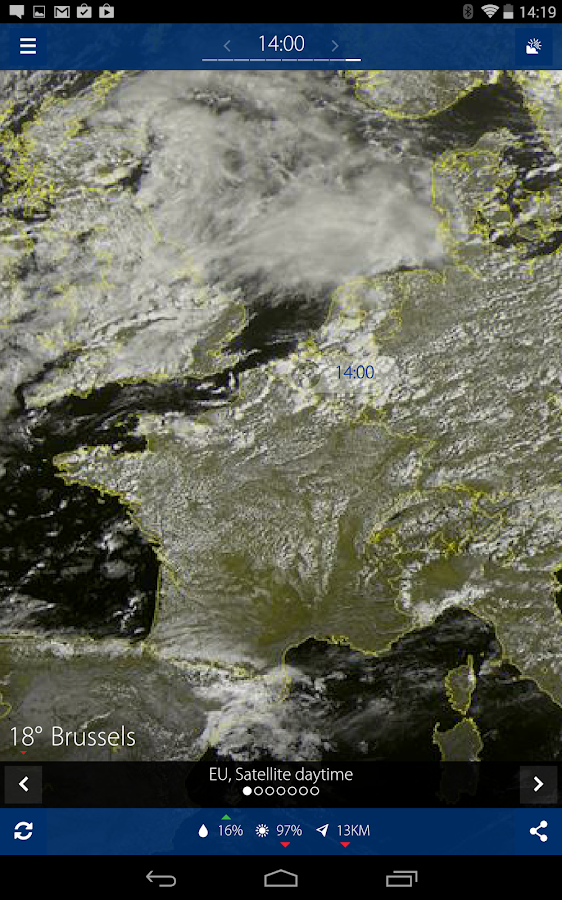 Sat24, Weather satellite- screenshot