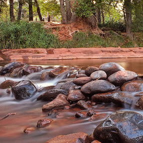Smooth as Silk by Brent Dreyer - Landscapes Waterscapes ( water, smooth, rapids, long exposure, sedona )