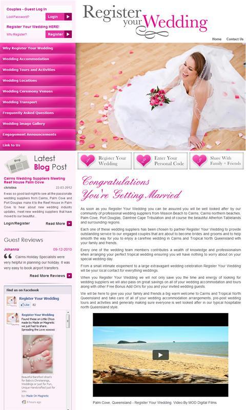 Register Your Wedding - screenshot