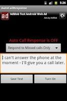 Screenshot of Auto Call Response