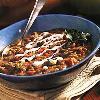 Lentil Soup with Roasted Vegetables