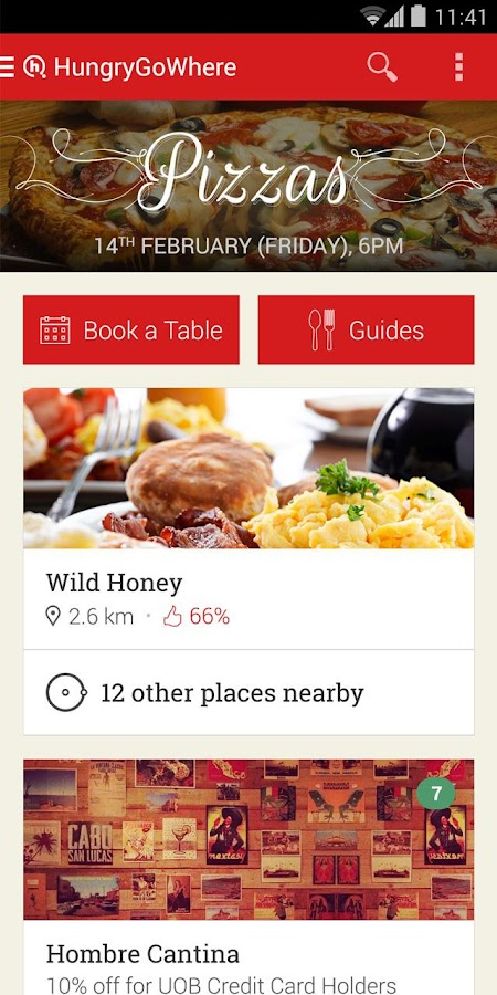 HungryGoWhere Singapore - screenshot