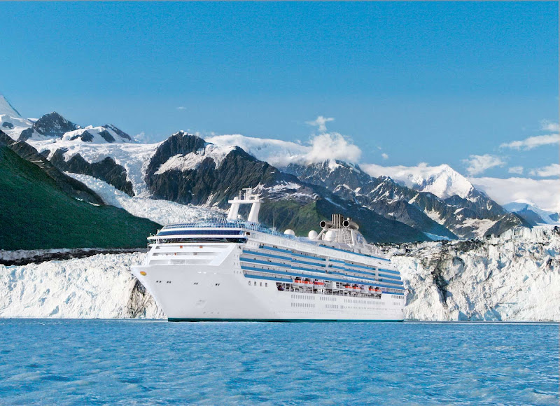 Island Princess offers guests a scenic view of College Fjord in Prince William Sound, Alaska.