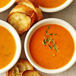 Roasted Garlic and Red Sweet Pepper Soup