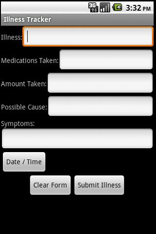 Illness Tracker - screenshot