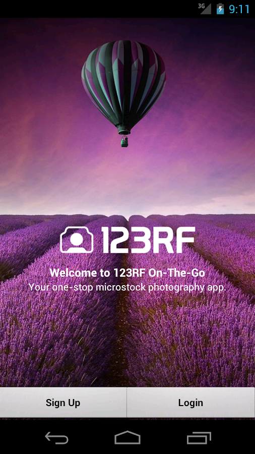 123RF On-The-Go - screenshot