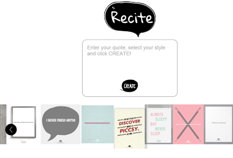 Recite - Create Visual Quotes- screenshot thumbnail