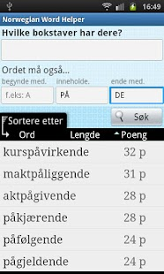 Norwegian Word Finder- screenshot thumbnail