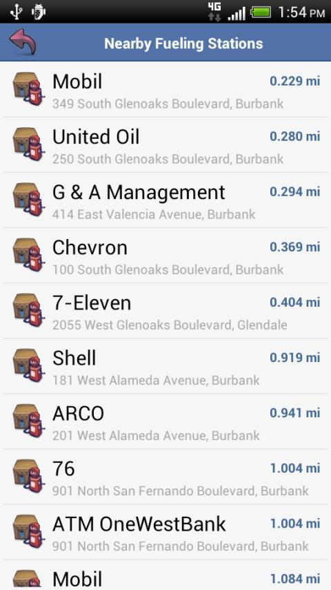 aCar - Car Management, Mileage – Screenshot