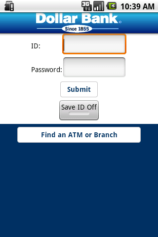 Dollar Bank App - screenshot