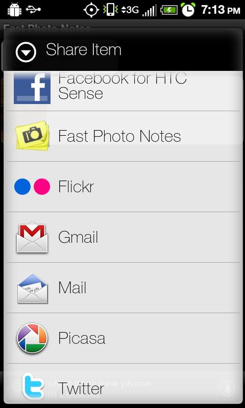 Fast Photo Notes - screenshot
