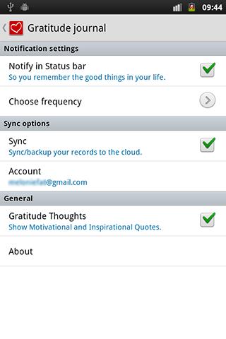 Attitudes of Gratitude Journal - screenshot