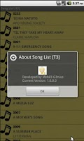 Screenshot of Song List [T3]