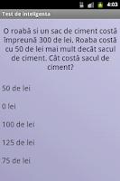 Screenshot of Test de inteligenta in romana
