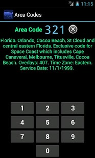 Area Codes - screenshot thumbnail