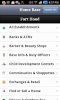 Screenshot of Fort Hood Directory