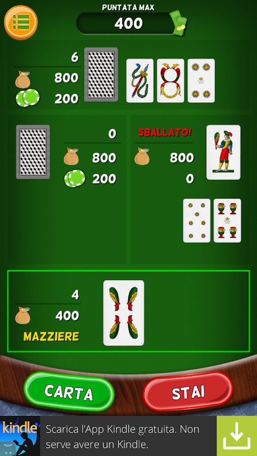 Italian Blackjack - screenshot
