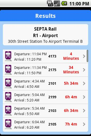 iTransitBuddy SEPTA Lite- screenshot