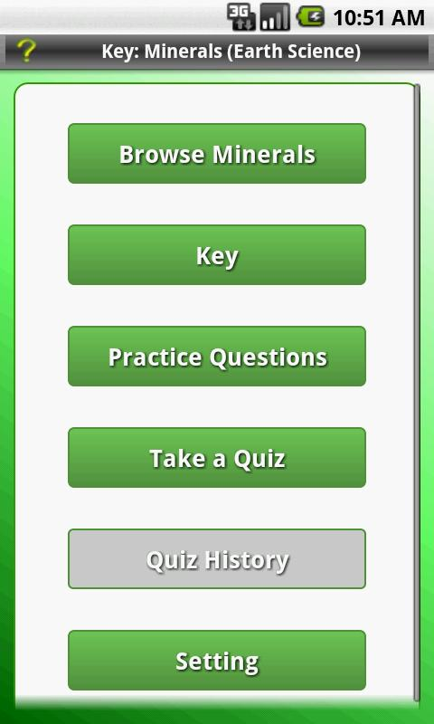 Key: Minerals (Earth Science) - screenshot