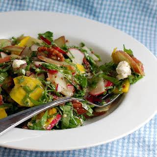 Spring Chopped Salad with Rhubarb.
