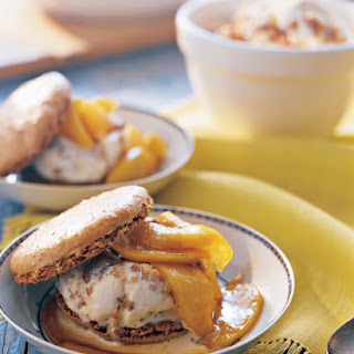 Walnut Dacquoises with Honey-Walnut Ice Cream