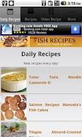 Screenshot of Fish Recipes!