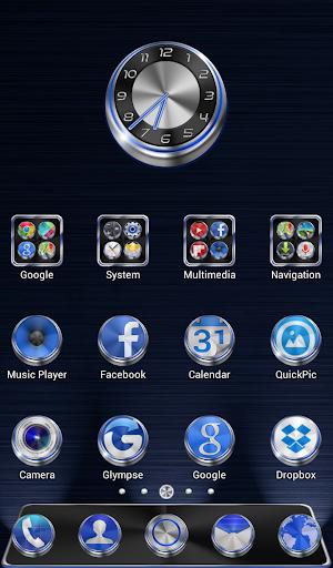 Techno HD Icons GO Theme