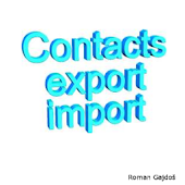 Import Contacts Export Contact