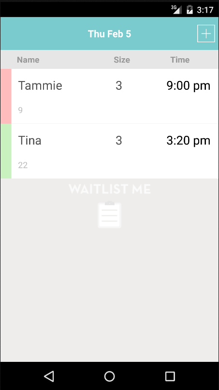 Waitlist Me- screenshot