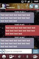 Screenshot of GO SMS Theme Galaxy 2