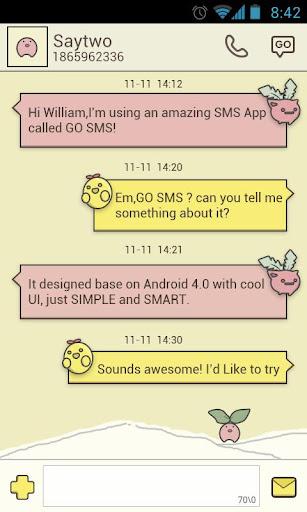 GO短信小萝卜主题