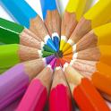 Crianças colorir jogo icon
