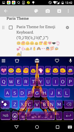 Emoji Keyboard-Paris Emoticons