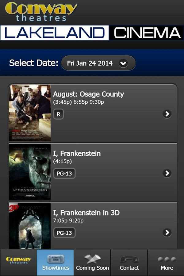 Conway Theatres- screenshot