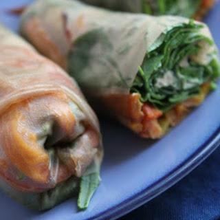 Sweet Potato Spring Rolls [Vegan, Gluten-Free].