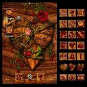 ADW Theme Wooden Valentine