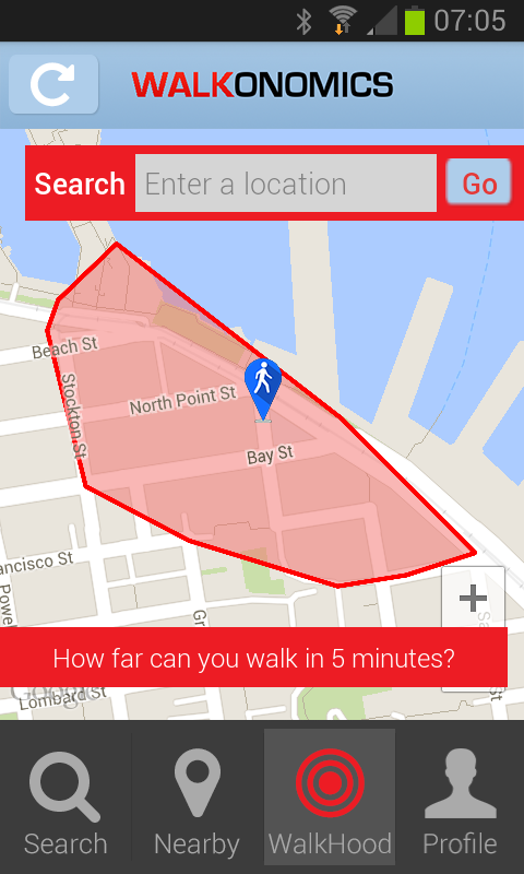 Walkonomics - Walkability App - screenshot