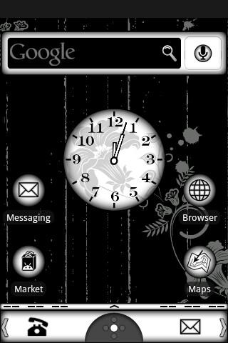 Black & White Theme - screenshot