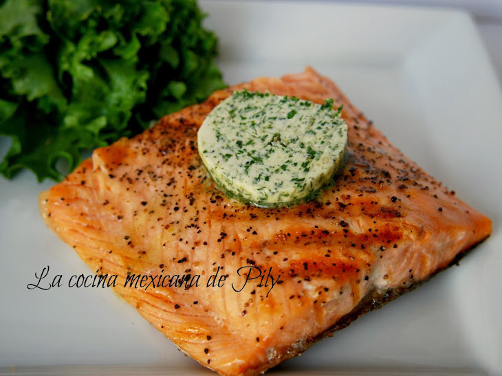 Roasted Salmon with Cilantro Butter Recipe