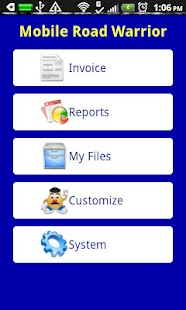 Mobile Road Warrior Invoice - screenshot thumbnail