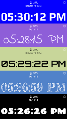 Active Desk Clock - screenshot