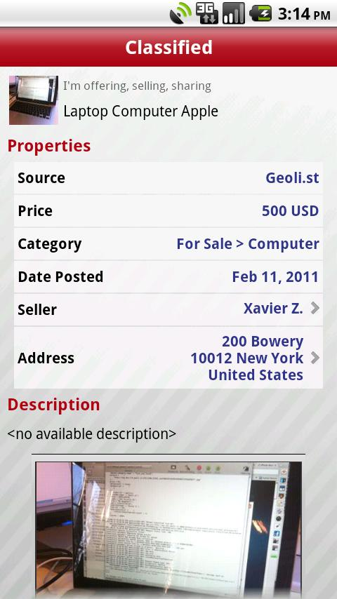 Geolist Free Classifieds - screenshot