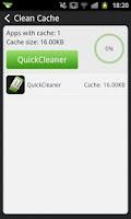 Screenshot of QuickCleaner