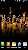 Screenshot of Fire Clock Live Wallpaper