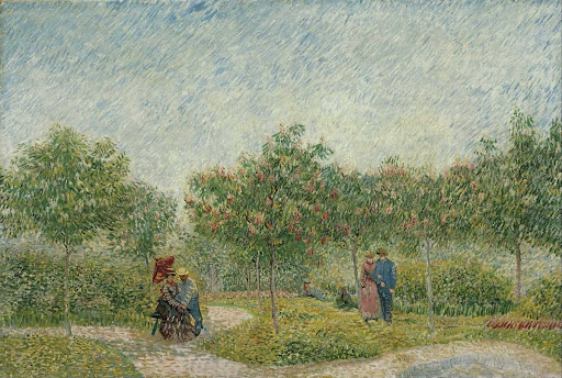 Garden with Courting Couples: Square Saint-Pierre